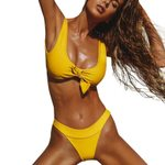 Sexy two piece swim suit for women Swimsuits Push Up Swimwear Solid Swimming suit sets 2018 Female Bandage bathing Biquini  #LL5
